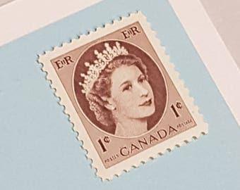 10 Canadian Mint Postage stamps, Queen Elizabeth II 1954 - Vintage Stamp Lot, Wilding Portrait, Unused Canadian Stamps Royalty  (e506-337)
