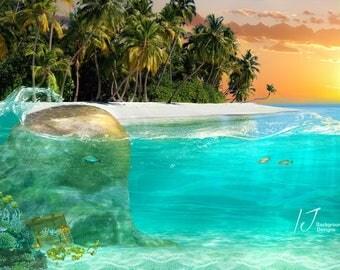 Mermaids, beach, digital background,fairy tail, fantasy,backdrop
