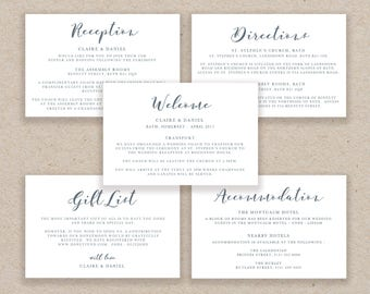 Enclosure Cards Template, Wedding Detail Cards, Accommodation Card, Directions Card Printable, Editable Detail Card Wishing Well - KPC06_104
