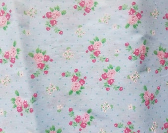 Shabby Chic blue floral fabric.