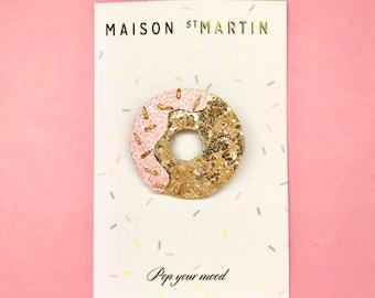 Donut sequin brooch