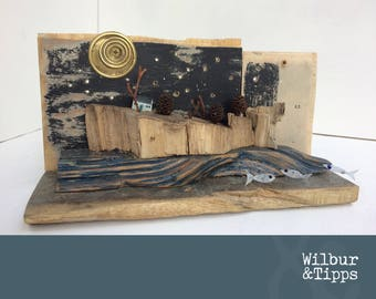Whale Island, Driftwood Art, Driftwood Sculpture