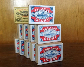 Vintages Bryant & May England's Glory Match Boxes