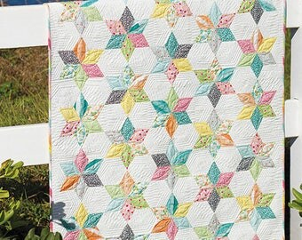 Sprinkles Baby Quilt Pattern - Jaybird Quilts #JBQ-160 - Jelly Roll Friendly Quilt Pattern - Easy Baby Quilt Pattern