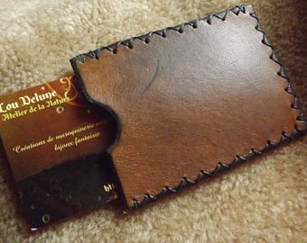 Bison Brown vegetable tanned leather wallet