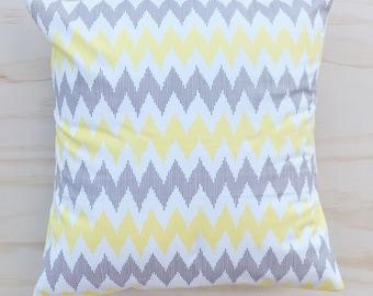 Lemon Zigzag Pillow