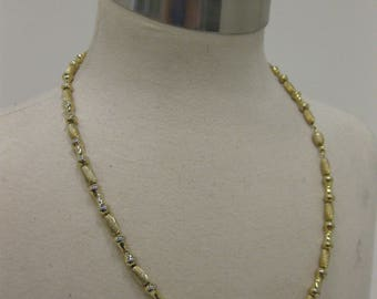 Vintage Gold-Tone Beaded Necklace On Chain