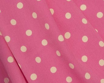 Pink Spot Print Fabric - 58 Inches Wide