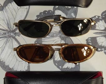 Set of 2 Vintage Ray Ban - Ray-Ban W2797 Rituals Metal Cat Arista Sunglasses -