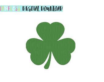 Shamrock Irish Lucky Clover St Patricks Day SVG Cut Files, Three Leaf Clover SVG, Saint Patricks Day SVG, Cricut Cut Files