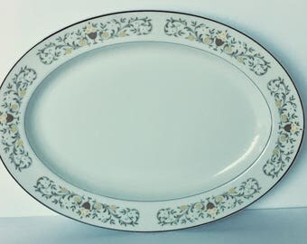 Sterling China Florentine Oval Platter