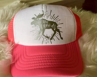 In to the woods trucker hat