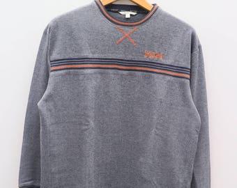 Vintage MCM Michael Cromer Gray Pullover Crewneck Sweatshirt Sweater Size L
