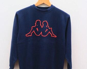 Vintage KAPPA Big Logo Sportswear Blue Sweater Sweatshirts Size L