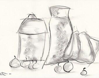 Still life - ink on A4 paper