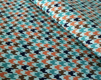 Blue dogstooth fabric, houndstooth fabric, dogs collar fabric, modern fabric, geometric fabric, patterned fabric, cheap fabric, sale fabric