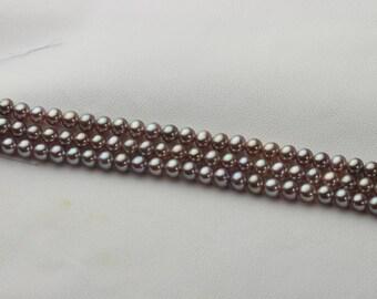 Round pearl,Tiny pearl,Deep purple pearl,Metallic color pearl,100% natural color pearl.