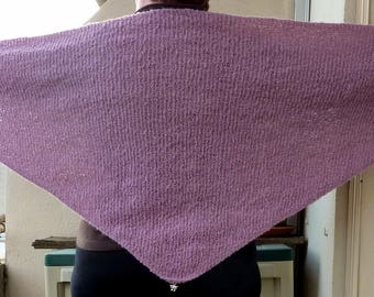 Old shawl pink curly wool