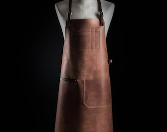Leather apron by Kruk Garage Bartender apron Work apron Barber apron Barista apron Mens apron Chef apron Birthday gift FREE PERSONALIZATION