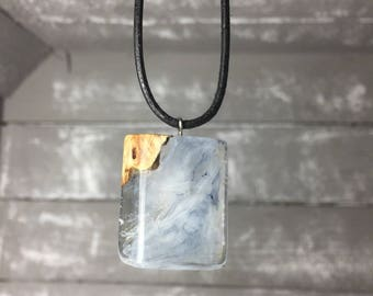 Resin wood necklace Necklace resin wood for him and her