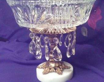 Chandelier Crystal  Pedestal Bowl