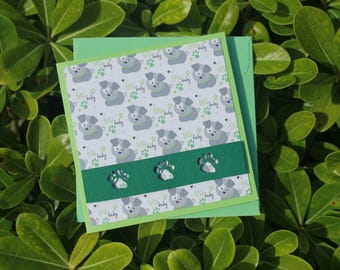 Birthday Card, Funny Card, Cute Card, Greeting Card, Scrapbooking Card, Happy Birthday Card, Mini Card, Micro Card, Card with dog