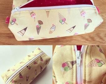Handmade Pencil Case, Ice Cream, Ice Cream Sundaes, Wafers, Cornets, Box Case, Storage, Cosmetics