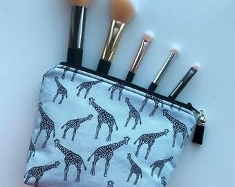 Cosmetic Bag, Makeup Bag, Zipper Pouch, Giraffe Cosmetic Bag, Giraffes, Mother's Day Gift