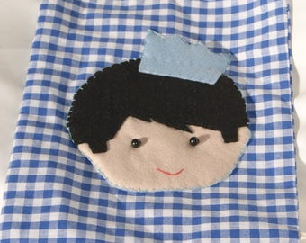 Bag child boy blue pattern