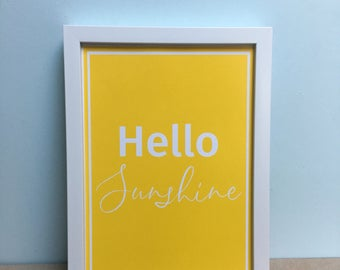 Yellow Hello Sunshine Art Print