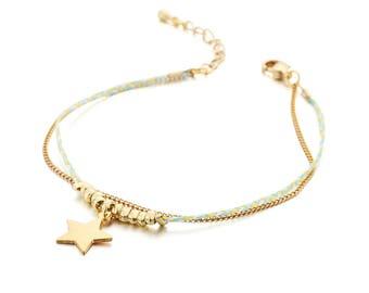 Bracelets - Green - Brass, Fabric - Elegant - Anniversary