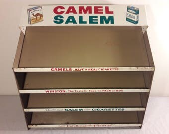 Vintage Camel & Salem Metal Display Rack