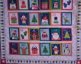 Handmade Fabric Christmas Advent Calendar Panel