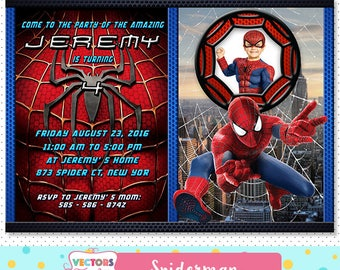 Spiderman Invitation, Spiderman Party, Spiderman Invite, Spiderman Birthday, Spiderman Birthday Invitation, Spiderman Movie Invite Printable