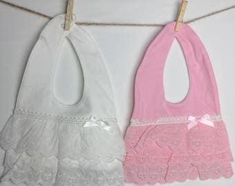 Bib baby Little Princess Lace Bibs fancy baby bib Church bib Cute lace baby bib 2 different colors Baby Bib Infant Bib Toddler Bib