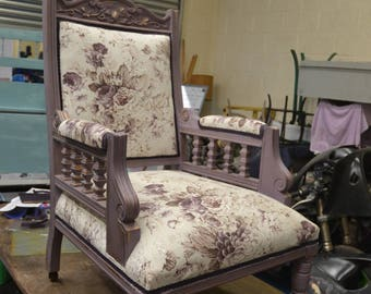 Fully Restored Substantial Victorian Armchair