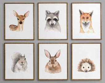 Woodland Nursery Decor, Forest Animals Nursery Decor, Woodland Nursery Wall Art, Woodland Nursery, Woodland Animals, Forest Animals Nursery