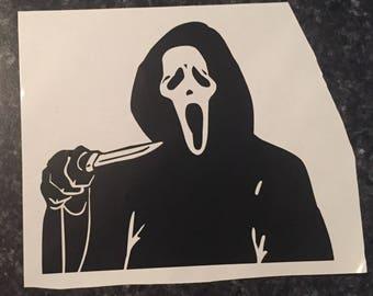 Scream GhostFace Vinyl  Decal