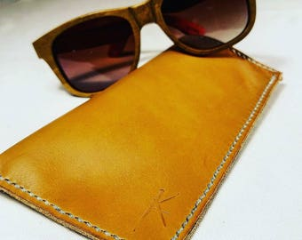 Leather Eyeglass Case, Leather Eyeglass Sleeve, Sunglass Case, Sunglass Cover