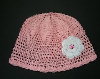 crochet baby hat, baby hat, cotton hat, baby shower present