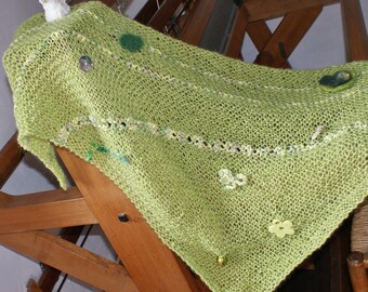 (8) shawl mohair wool and shiny