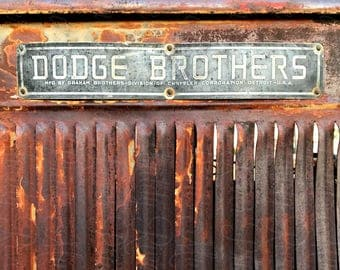 Dodge Brothers Junkyard Photography Printable Download-Old Dodge Truck-Retro Truck-Vintage Truck-Junkyard Scene-Americana Photography