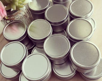50 X WEDDING FAVOURS | Soy Candles | Petite 2oz tins | Gold or Silver | Personalised Labels