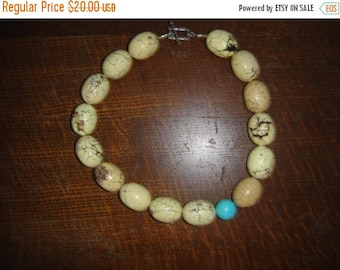 CIJ Vintage Howlite Beaded Necklace