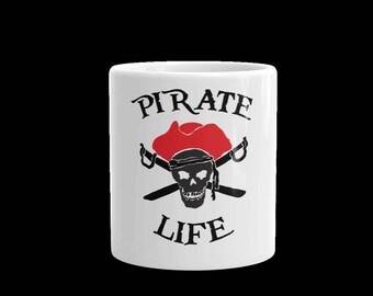 Pirate life coffee mug -Pirate life tea mug-coffee mug-tea mug-tea cup-coffee cup-gift cup mug-ceramic white coffee mug