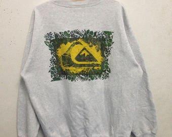 Vintage 90's Quicksilver Sweatshirts Big Logo