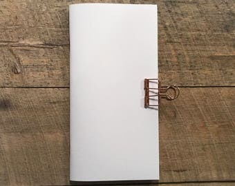 Mixed Media Paper- Traveler's Notebook Insert- Midori Insert- Art Journal Insert- Scrapbook Insert- Collaging Insert - Various Sizes