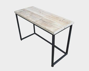 Reclaimed Wood Office Desk - Industrial Style
