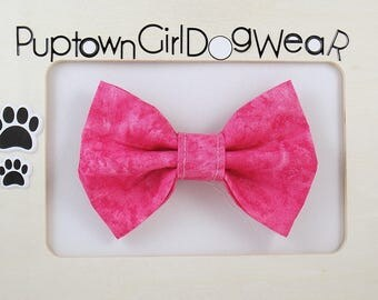NEW SALE! Pink Dog Bow Tie Pink Bow Tie Cute Bow Tie Cat Bow Tie Dog Collar Bow Tie Pet Stocking Stuffer Dog Gift