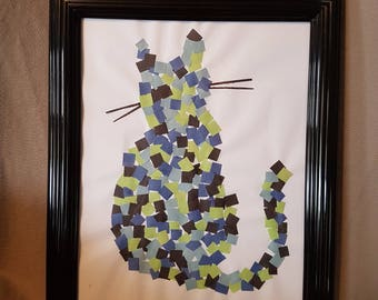 Framed Kitty Kat Wall Art